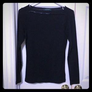 Cute long sleeve black Ralph Lauren top